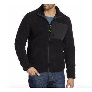 Wesc Moritz Black Sherpa Teddy Fleece Jacket XL